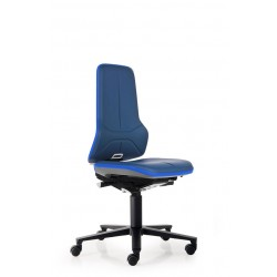 Neon 2 - Siège de travail - Cuir synthétique Magic bleu - Roulettes - Bimos