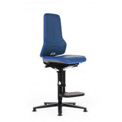 Neon 3 - Siège de travail - Repose pieds - Cuir synthétique bleu - Patins - Bimos