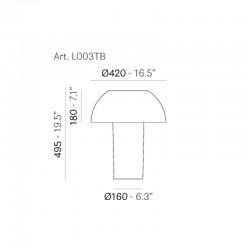 Lampe Colette - Hauteur 50 cm - Pedrali