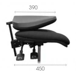 AT3XTP dossier pliant asynchrone vérin haut - Repose pieds - Patins - Chaise d'atelier tissu