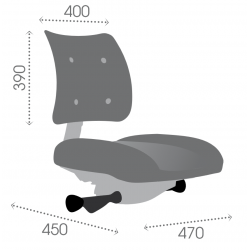 ATFXC synchrone vérin standard - Roulettes sols durs - Chaise d'atelier tissu