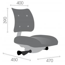 ATFXC synchrone vérin moyen - Patins - Chaise de caisse et d'atelier - Tissu
