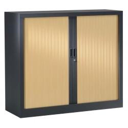 Armoire basse métallique - H100 x L120 x P43 cm