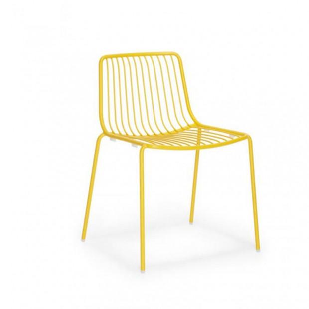 Nolita 3650 Pedrali chaise 4 pieds - Jaune
