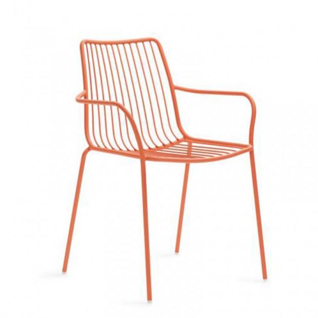 Nolita 3656 Pedrali chaise 4 pieds avec accoudoirs
