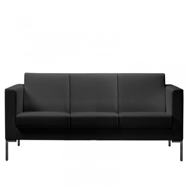 Canapé Sitland 3 places cuir noir