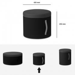 Pouf tissu - DODO gris - Hauteur 450mm - Sitland