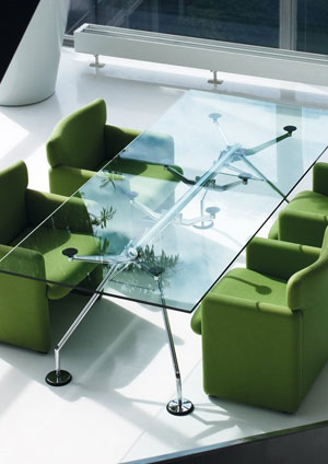 Table en verre Nomos