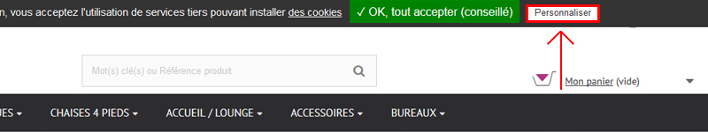 Personnaliser les services d'analyse et de cookies.