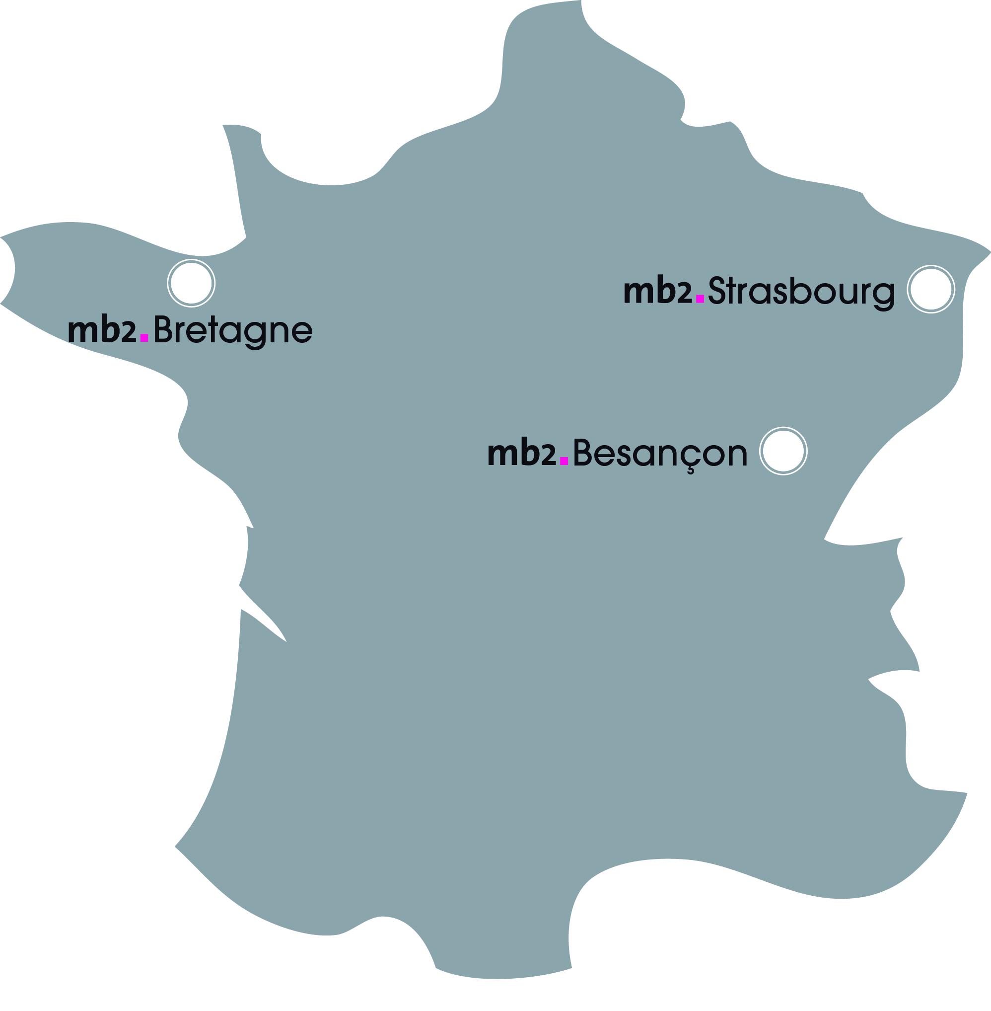 Carte de Frane - emplacement des boutiques mb2.fr