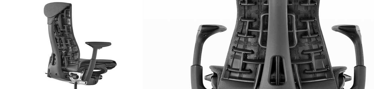 Le dossier ergonomique du fauteuil Embody