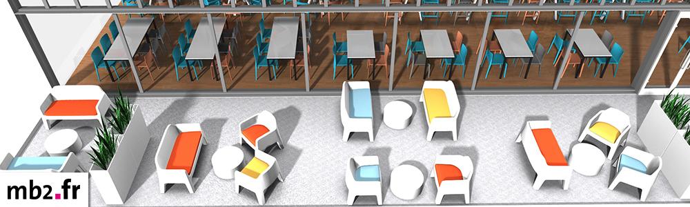 Aménagement intérieur et extérieur - plan 3D