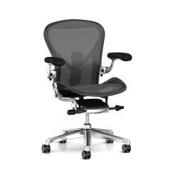 Aeron - Herman Miller - Graphite / Alu Poli / Dual Posture Fit