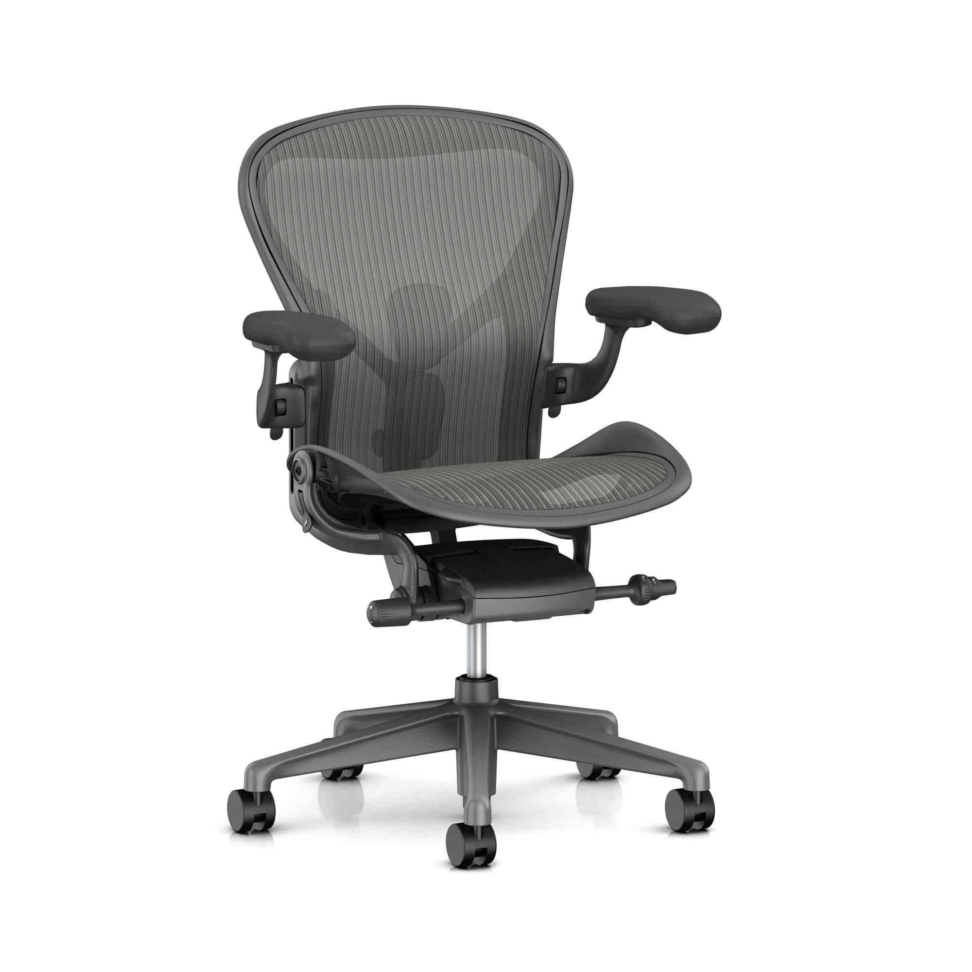 Aeron - Herman Miller - Carbon / Satin Carbon / Dual Posture Fit