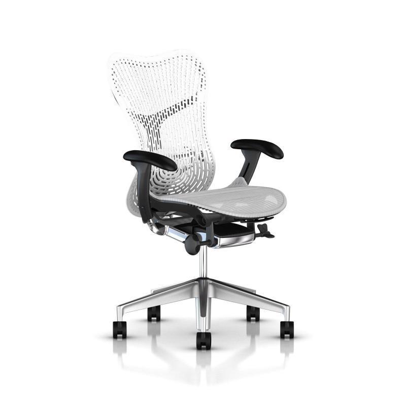 Mirra 2 Triflex - Herman Miller - Piètement Aluminium semi poli - Structure Graphite