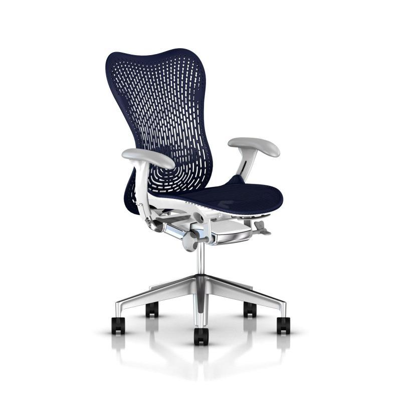 Mirra 2 Triflex - Herman Miller - Piètement Aluminium semi poli - Structure White