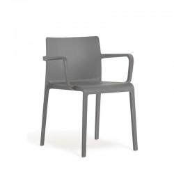 Volt 675 Pedrali - Chaise 4 pieds avec accoudoirs